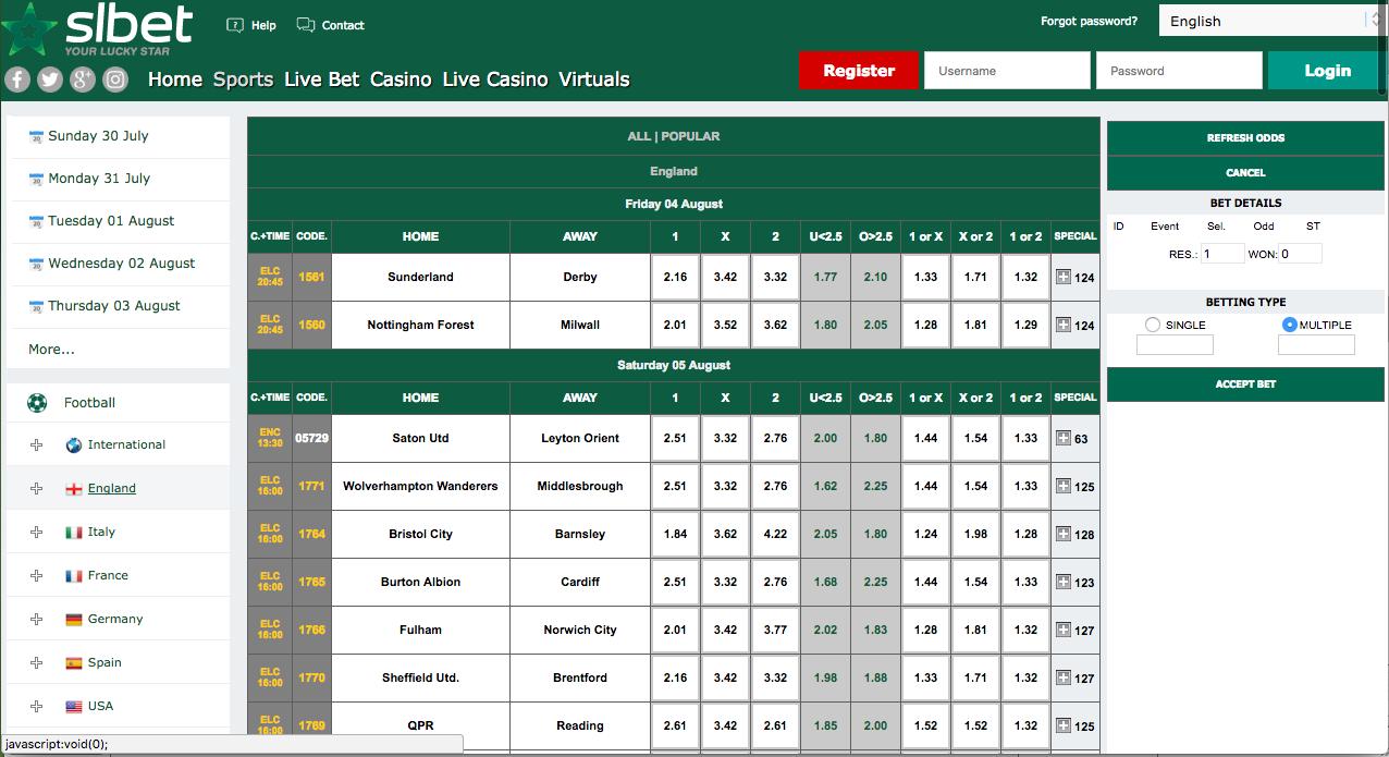 SLBet Portugal apostas online ao vivo