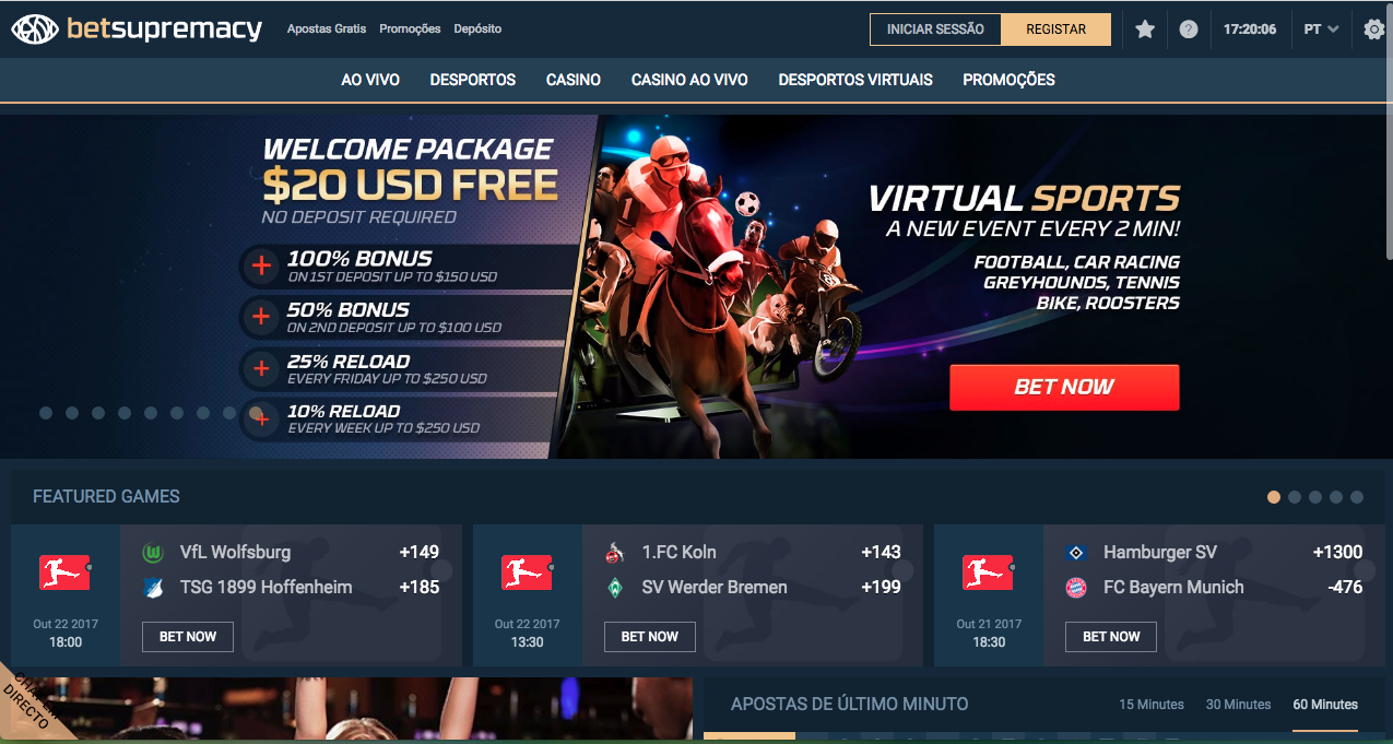 Bet Supremacy Homepage